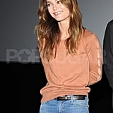 Vanessa Paradis smiled in France.