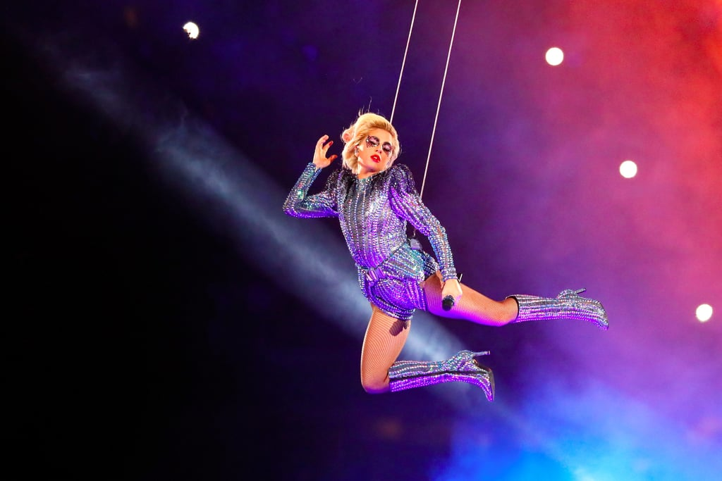 Lady Gaga Jumping Off the Roof Super Bowl Memes