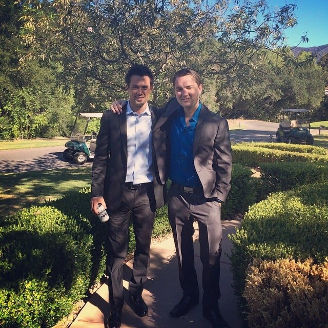 Stephen Colletti wrapped his arm around his buddy Dieter Schmitz for a guys-only snap.