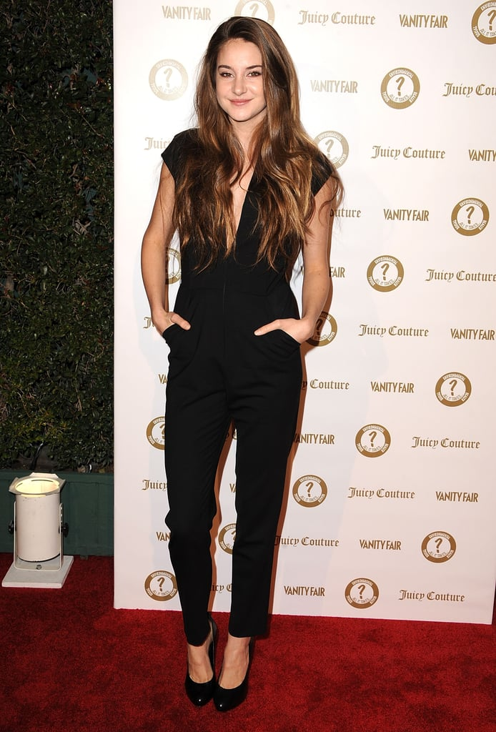 Shailene Woodley channeled a relaxed-chic vibe on the red carpet in a cap-sleeved version with a slouchier pant leg.