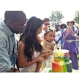 "Kim and Kanye celebrated North's first birthday in June 2014 with a ""Kid-chella"" party."