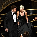 Lady Gaga and Bradley Cooper Standing Ovation at Oscars 2019