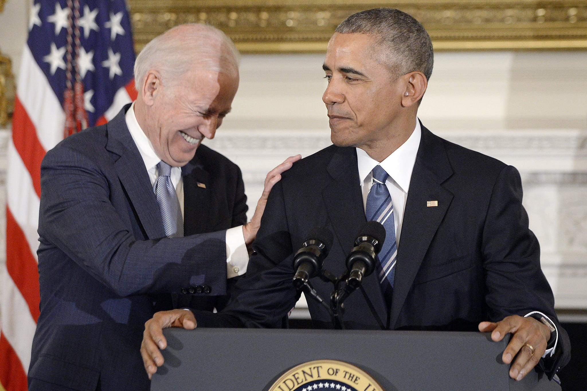 Barack Obama and Joe Biden Friendship PostWhite House POPSUGAR News