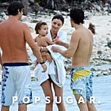Orlando Bloom, Miranda Kerr, and Flynn finished up a day in the sun.