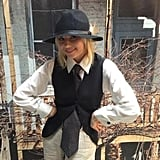 Happy Endings' Elisha Cuthbert took a turn into Annie Hall territory. Source: Twitter user caseyrosewilson