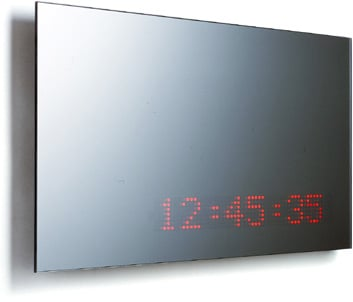 LED Mirror With Scrolling Text Or Clock