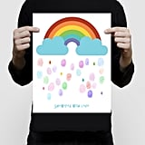 Rainbow Baby Shower Fingerprint Guest Book