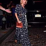 She Styled It With Brown Sandals