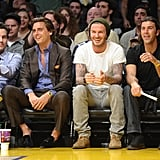 David Beckham was courtside for the game.