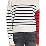 Nordstrom Signature Mix Stripe Cashmere Crewneck Sweater