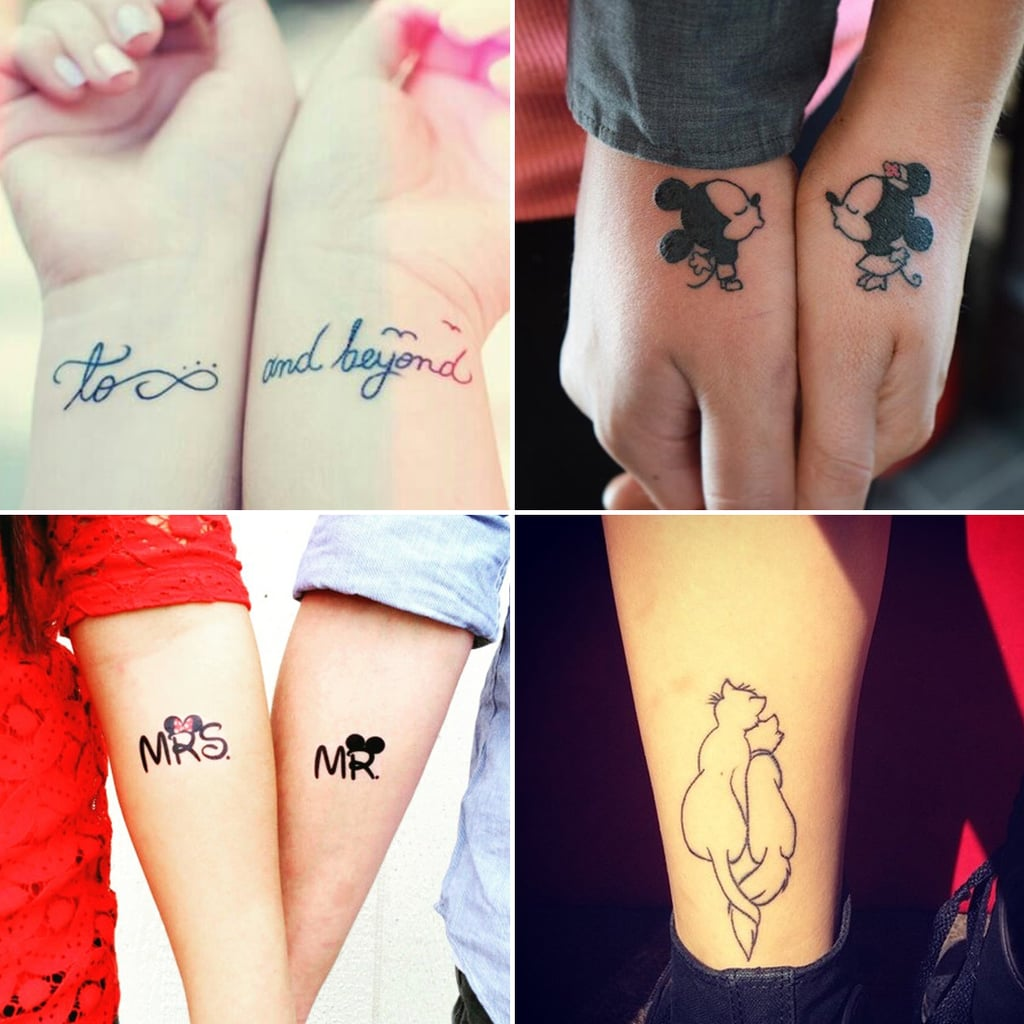 Love Quotes Tattoos For Couples Best Disney Couple Tattoos  Popsugar Middle East Love