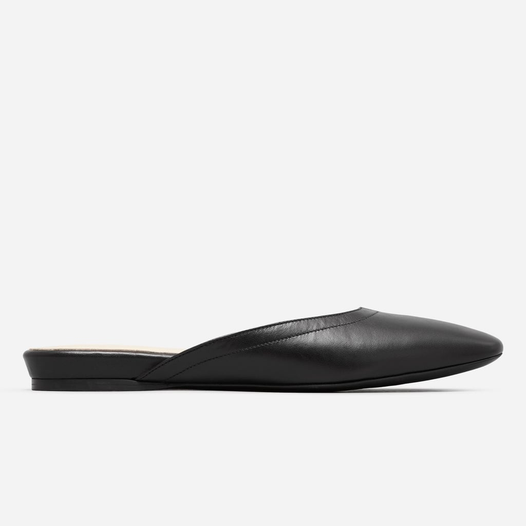 Speaking of mules, we heart the black leather ones from Everlane ($120).