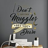 Harry Potter Muggles Quote Peel-and-Stick Wall Decals