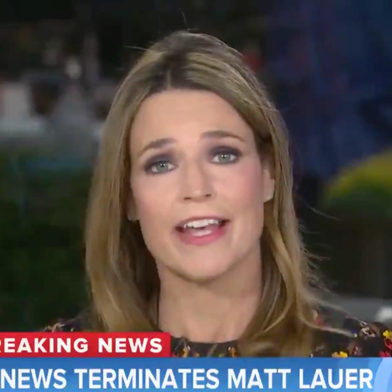 Savanah Guthrie Reacts To Matt Lauer Firing On Today Show Popsugar