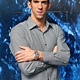 Michael Phelps attended a Spotlight on Swimming party in London.