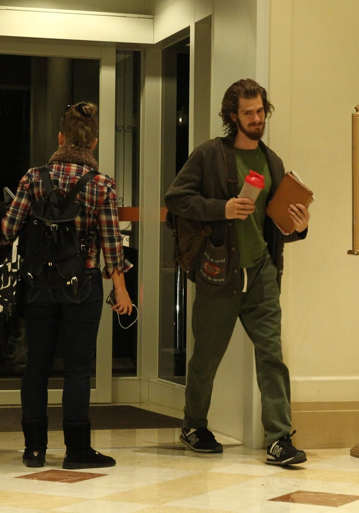 Andrew Garfield on the Set of Silence