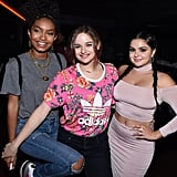 When She Cheesed With Pals Yara Shahidi and Ariel Winter