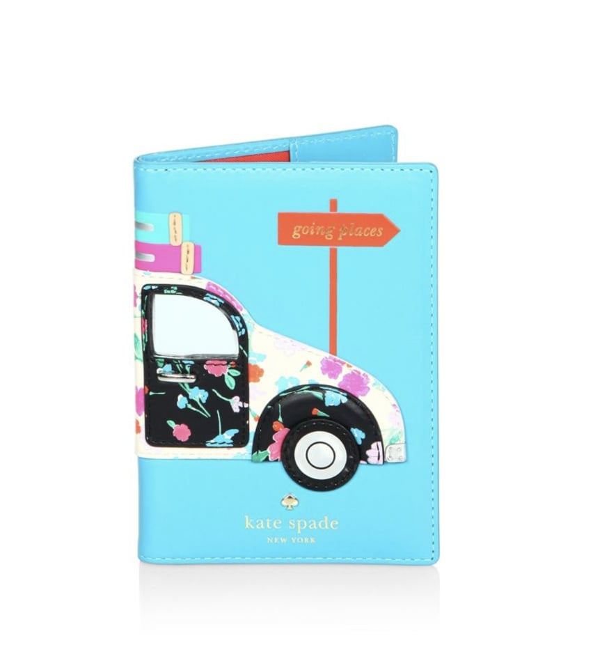 Kate Spade Scenic Route Car Applique Leather Passport Holder
