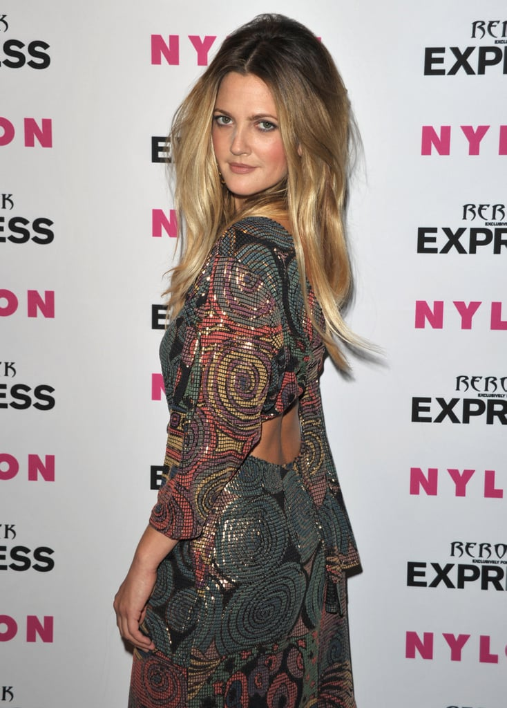 Pictures of Drew Barrymore Nylon Party
