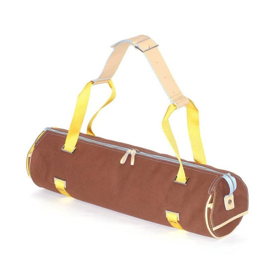 The rich colors and chrome details of Plank's Chocolate Mat Carrier ($150) make it a funky but stylish choice.