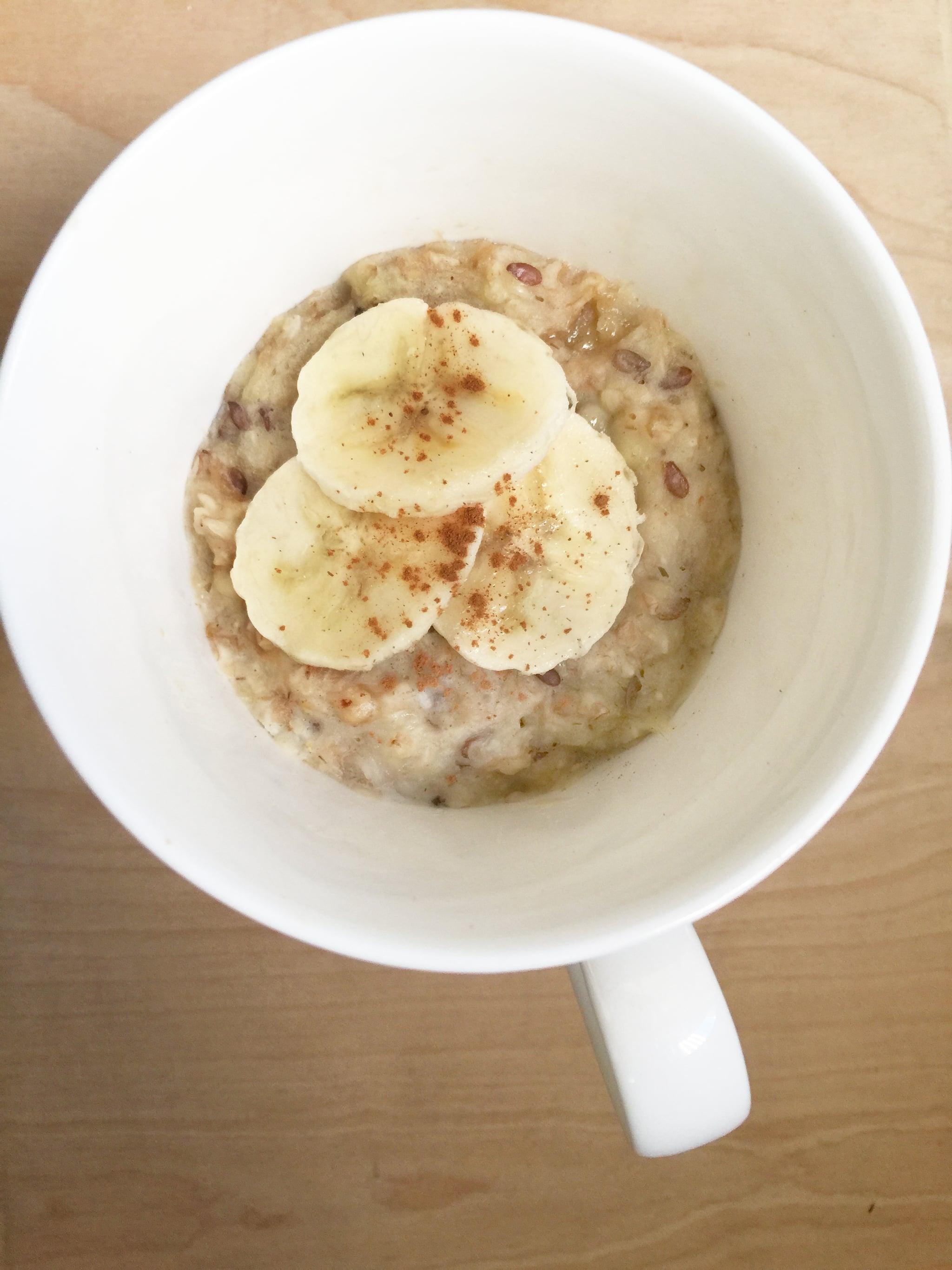 Microwaveable Mug Oatmeal With Peanut Butter And Banana Popsugar Fitness Australia