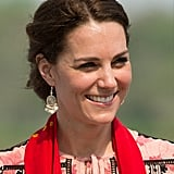 These $12 Accessorize earrings had many outings on the Cambridge's recent tour of India.