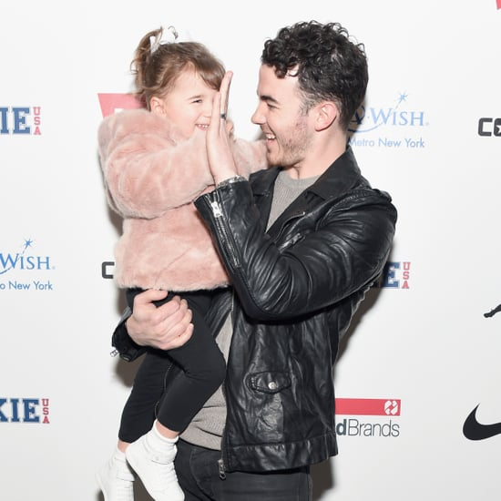 Kevin Jonas and Daughter Alena at New York Fashion Week 2017