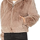 The Drop Sloane Faux-Fur Zip -Front Hooded Bomber Jacket