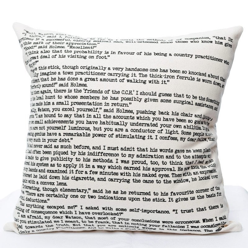 Sherlock Holmes Pillow Cover ($42)