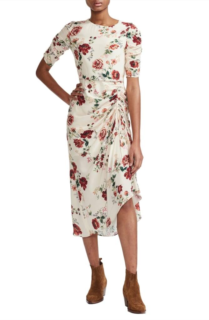 Maje Rondi Floral Print Dress