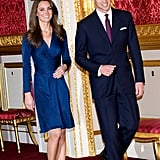 Kate's Satin Engagement Dress by Issa