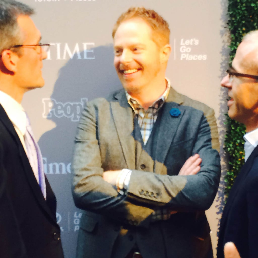 On Friday, Jesse Tyler Ferguson enjoyed himself at People and Time's reception.