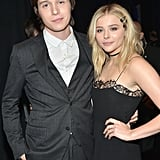 With his The 5th Wave costar Chloë Grace Moretz.