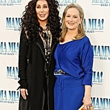 Pictured: Cher and Meryl Streep