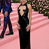 How can we forget this look? At the 2019 Met Gala, she opted for an eye-catching Saint Laurent number that had a heart-shaped cutout along the front.