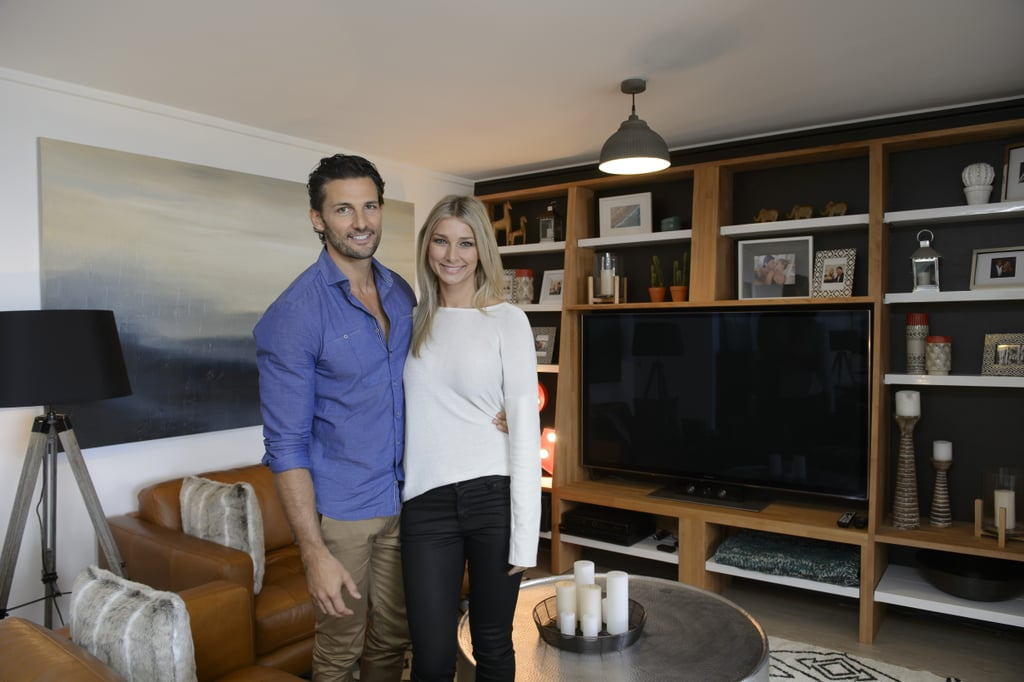 """While Australia has been busy getting to know the latest stars of The Bachelor, last year's lovebirds Tim Robards and Anna Heinrich have been busy setting up a life together! Tim and Anna, whose love story captivated a nation and served as the inspiration for Blake Garvey and the girls who applied for this year's series, have hit many relationship milestones since getting together: they've met each other's families, they've spent holidays like Christmas and New Year together, and they've travelled overseas together. Their latest move? Literally, it's moving in together. But it turns out Tim's Bondi pad was too much of a bachelor pad for criminal lawyer Anna, who has only lived at home. She wanted certain pieces of """"furniture"""" to go — namely his pool table, which was his pride and joy but took over the whole apartment. The good thing about finding love on a TV show is that when it came to switching things up, Tim and Anna could turn to the pros on The Living Room, enlisting Barry DuBois' help with refurbishing the space. Anna's wish list included a proper dining table area and a proper lounge area so she could invite family and friends over for entertaining purposes. As for Tim, he just had trouble letting go of a few things but was willing to make his lady happy. Keep scrolling to see a few before and after shots. The Living Room airs tonight at 7:30 p.m. on Network Ten."""