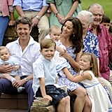The Danish royals gathered for a photo call at Grasten Castle in Aug. 2011.