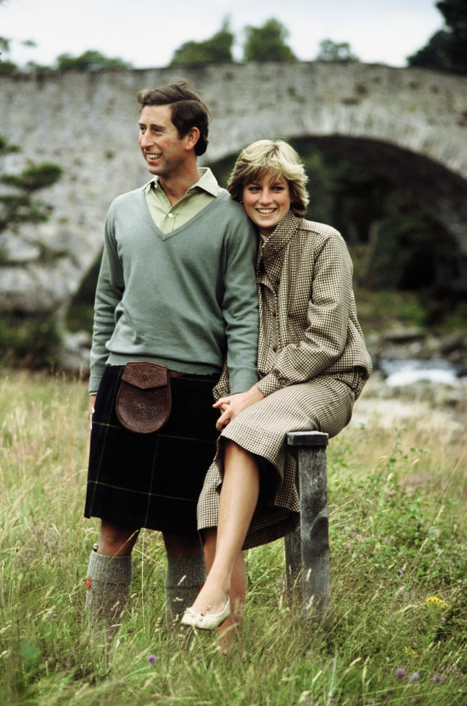 Prince Charles and Princess Diana looked happy and casual in a photo released of their 1981 honeymoon in Balmoral.