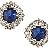 Judith Ripka Synthetic Corundum Luna Button Earrings With Sapphires ($315, originally $450)