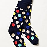 Why give someone plain old polka-dotted socks when you can give them multicolored polka-dotted socks ($12)?