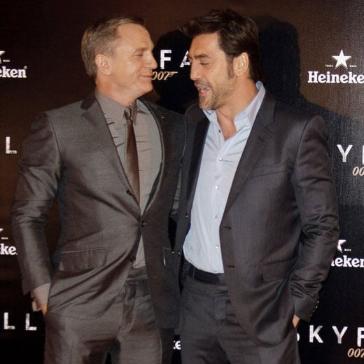 Daniel Craig and Javier Bardem at Skyfall Madrid Photocall