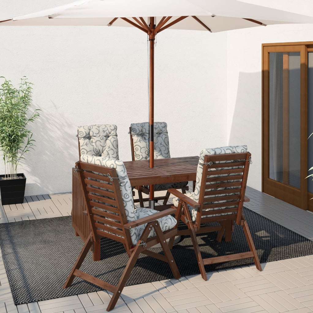 Äpplarö Table With 4 Reclining Chairs