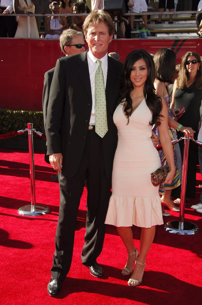 Kim accompanied her stepdad, Bruce Jenner, to the July 2006 ESPY Awards in LA.