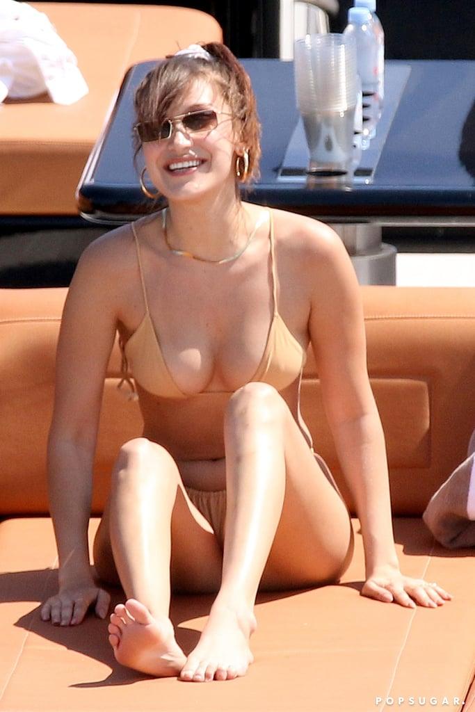 Bella Hadid Beige Bikini
