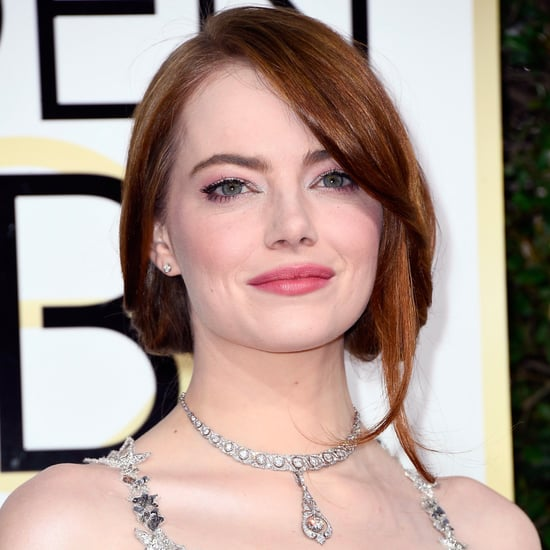 Emma Stone's Lip Mask Before the 2017 Golden Globes
