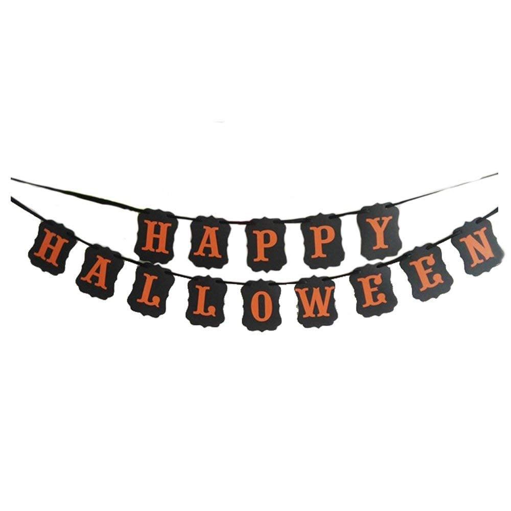 happy halloween garland door decorations for halloween popsugar