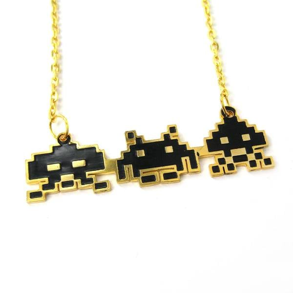 Atari Space Invaders Pendant Necklace