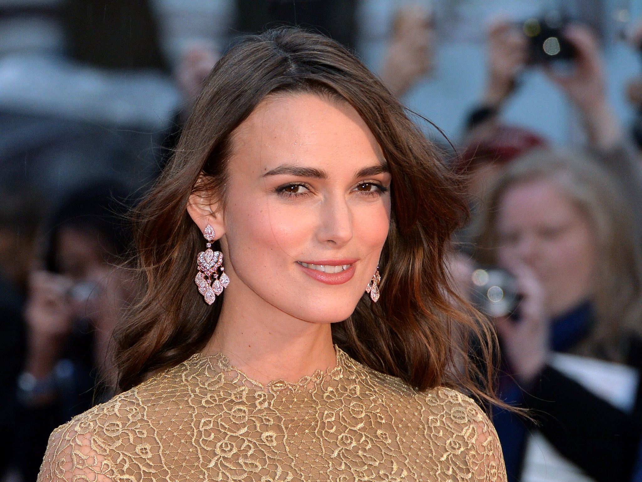 LONDON, ENGLAND - OCTOBER 08:  Keira Knightley attends the opening night gala screening of