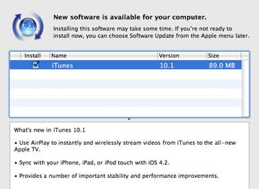 iTunes 10.1 Download With Airplay For Apple TV