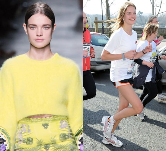 Photos of Natalia Vodianova Running a Half Marathon and Then Walking for Givenchy 2011-03-07 04:35:02